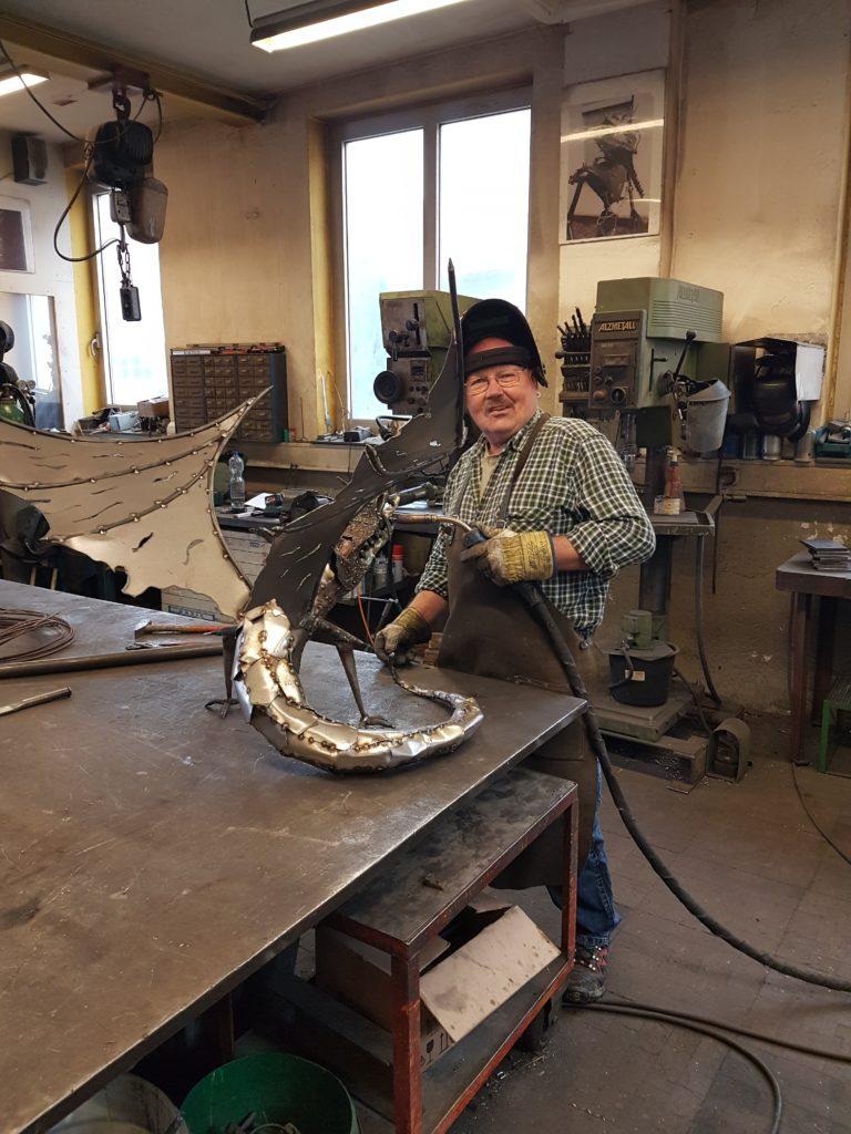 Hermann bei der Arbeit